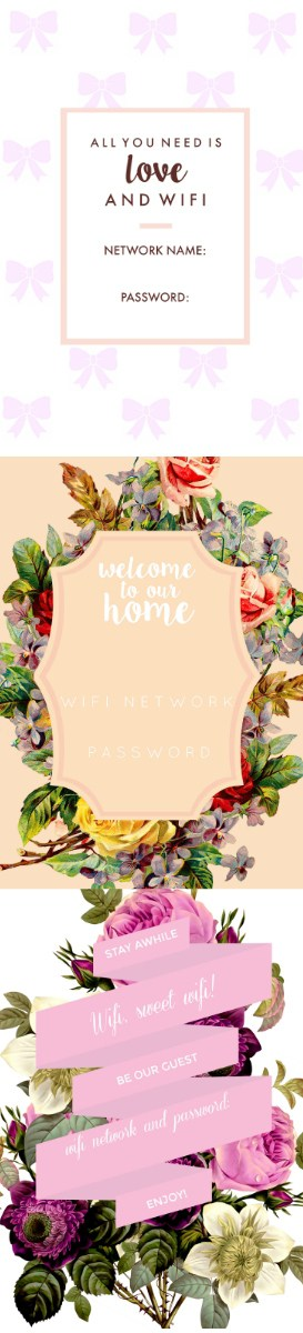 photo relating to Wifi Password Printable identified as Cost-free Wifi Pword Printable! - at dwelling with Ashley
