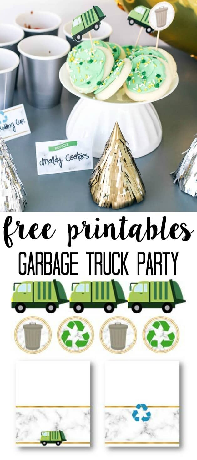 Garbage truck birthday party at home with ashley if youd like these free printables for your party just put your information in below and they will be automatically emailed to you filmwisefo