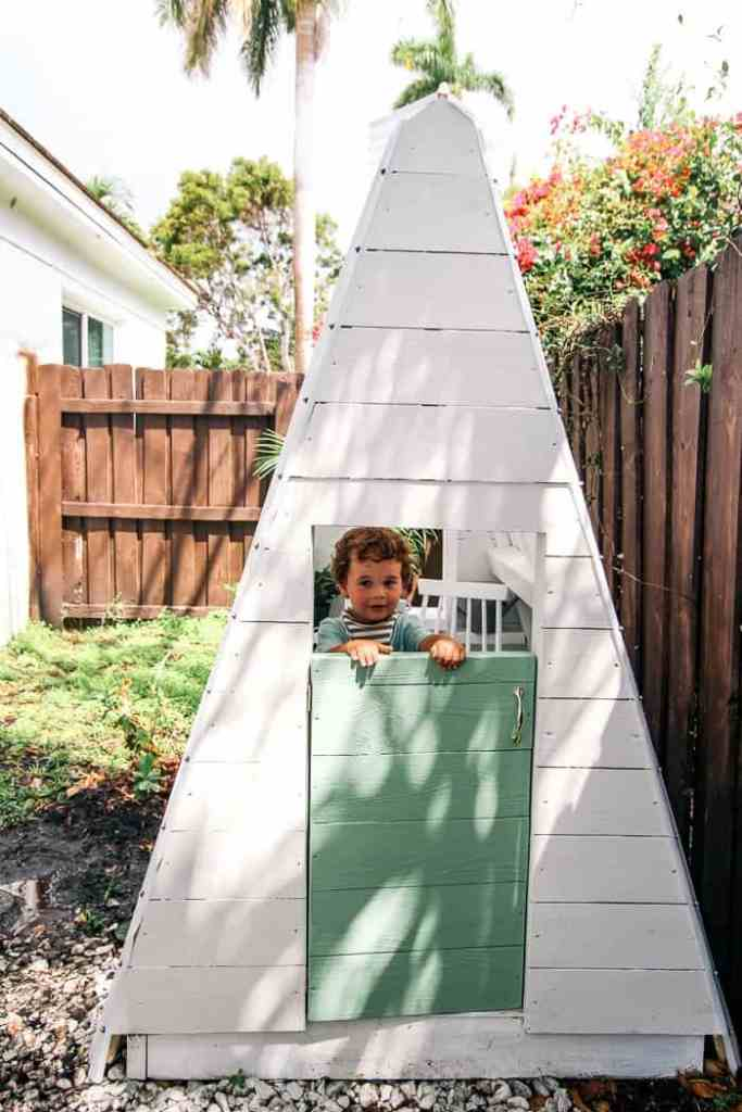 DIY A-Frame Play House - at home with Ashley