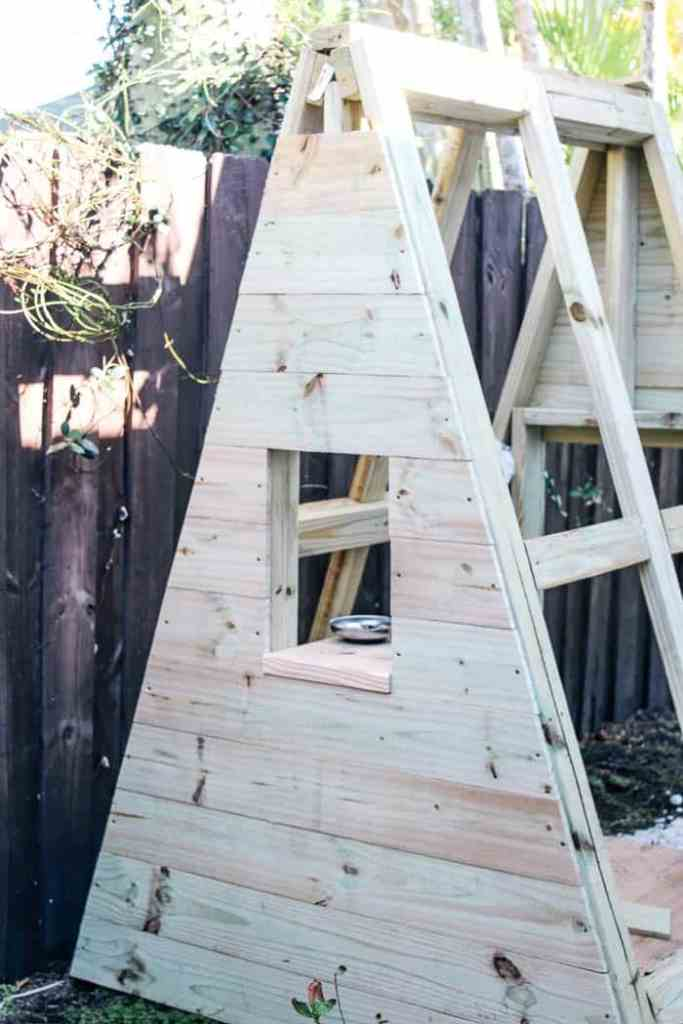 diy a frame play house at home with ashley