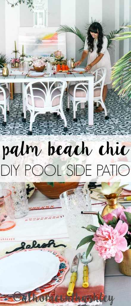 Palm Beach Chic Patio Reveal At Home With Ashley