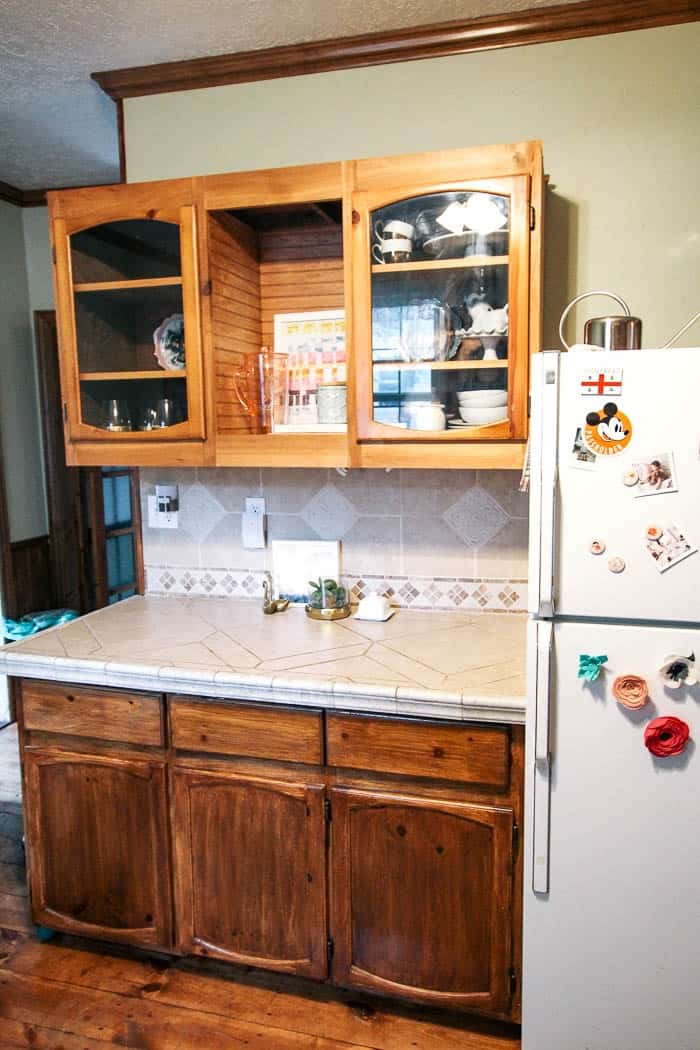 Before How To Paint Kitchen Cabinets  A Step By Step Guide With Chalk Paint.  This
