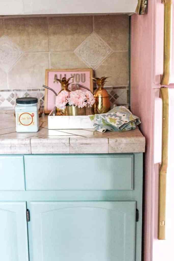 DIY Peel and Stick Backsplash Tile - at home with Ashley