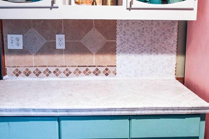 Remarkable Diy Peel And Stick Backsplash Tile At Home With Ashley Home Remodeling Inspirations Genioncuboardxyz