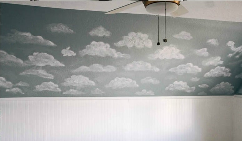 How to Paint a Cloud Mural