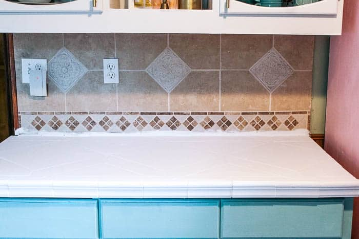 How to Paint Kitchen Counter tops - at home with Ashley
