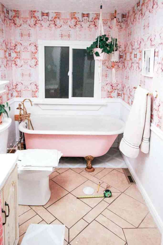 Peel and Stick Bathroom Tile - at home with Ashley