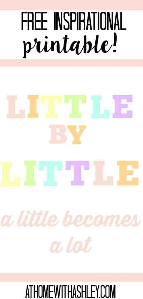 Free printable- inspirational quote. Little by little a little becomes a lot. Paying off student loans- the best tips and a payoff plan that'll work for getting out of debt. Plus a company to refinance with. This is a life hack you don't want to miss! How I paid off $20,000 in student loans in 2 years (and you can too)!