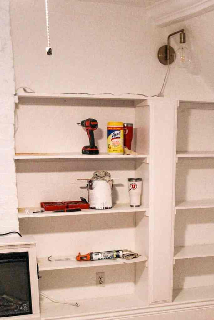 Diy Built In Bookcase At Home With Ashley