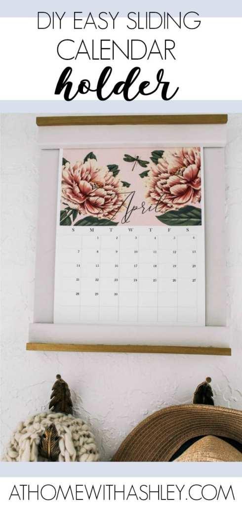 How To Make A Diy Calendar Holder 2019 Free Calendar At Home