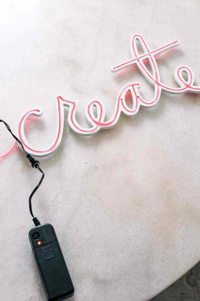 Diy Neon Light Sign At Home With Ashley