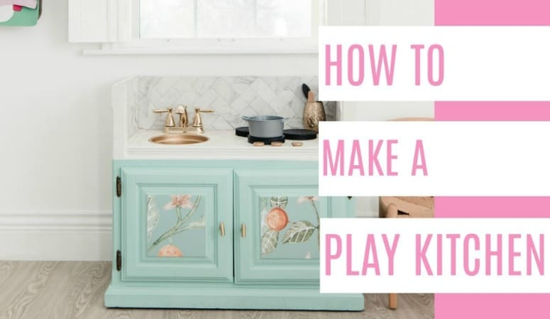DIY Play Kitchen - at home with Ashley