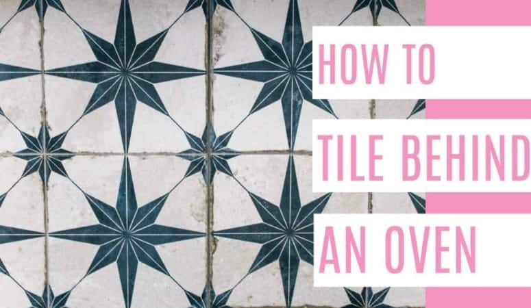 How to tile behind a stovel. This tutorial also works for a backsplash or really any wall. A DIY that will make yourr kitchen look instantly beautiful! Tips for how to make tiling simple and quick