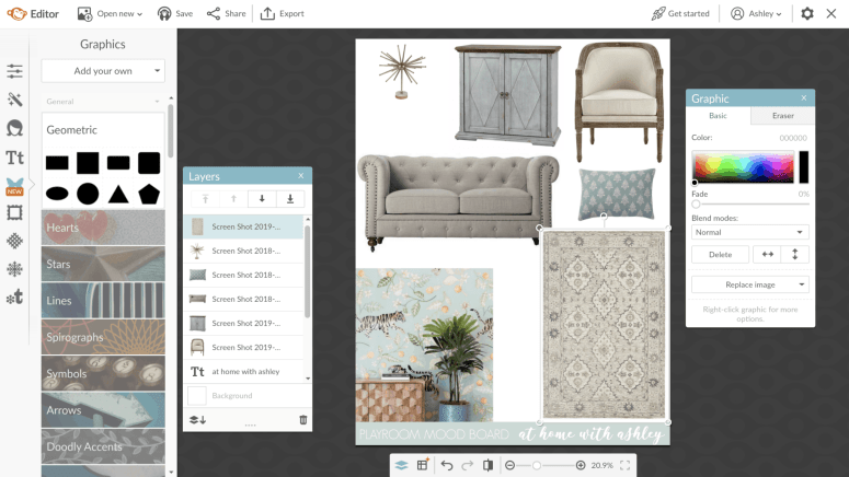 how to make a mood board without photoshop. This is perrfect for redecorating a room and is exactly what every interior designer does to viduualize a room. I'll show you a step by step video tutorial for how to create a mood board collage with inspiration for how to DIY one yourself.