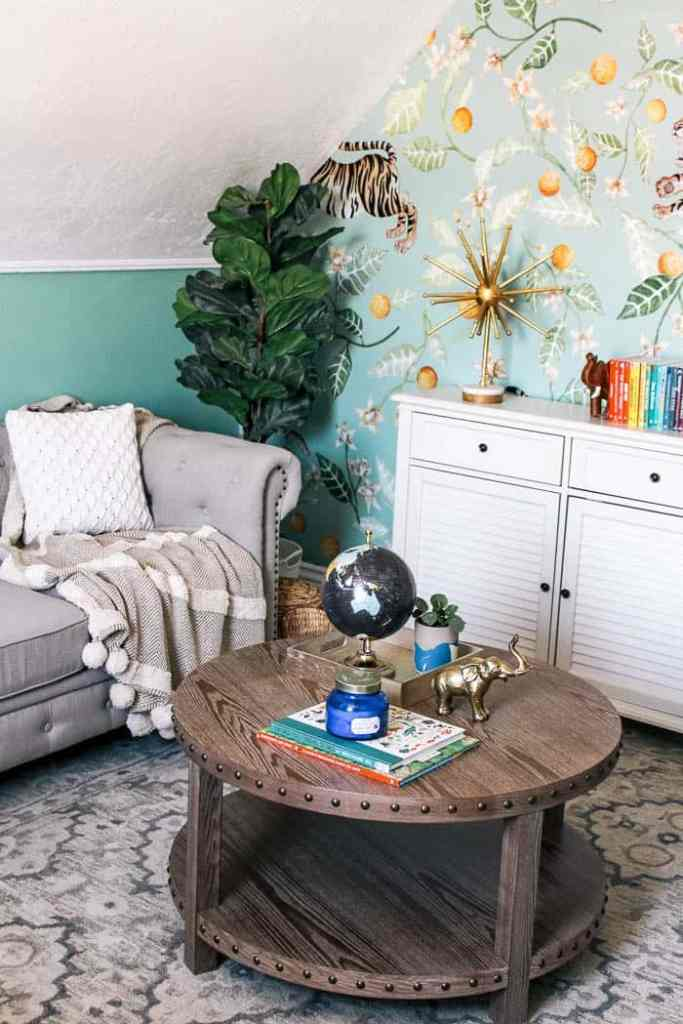 Tremendous Jungle Themed Playroom Remodel At Home With Ashley Dailytribune Chair Design For Home Dailytribuneorg