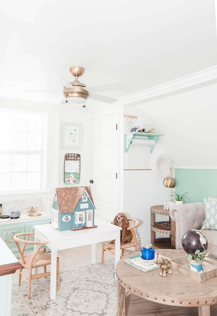 Welcome to our playroom! This room was created for my toddler little boy. In these posts I share design ideas as well as storage and organization tips for containing toys. These posts also include lots of DIY's that I did for this small space. If you're looking for cute kids decor- this if for you! From a kid friendly rug to paint colors to small space design.