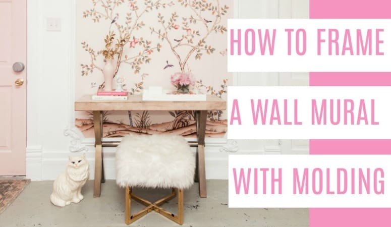 Diy Framed Wallpaper Mural At Home With Ashley