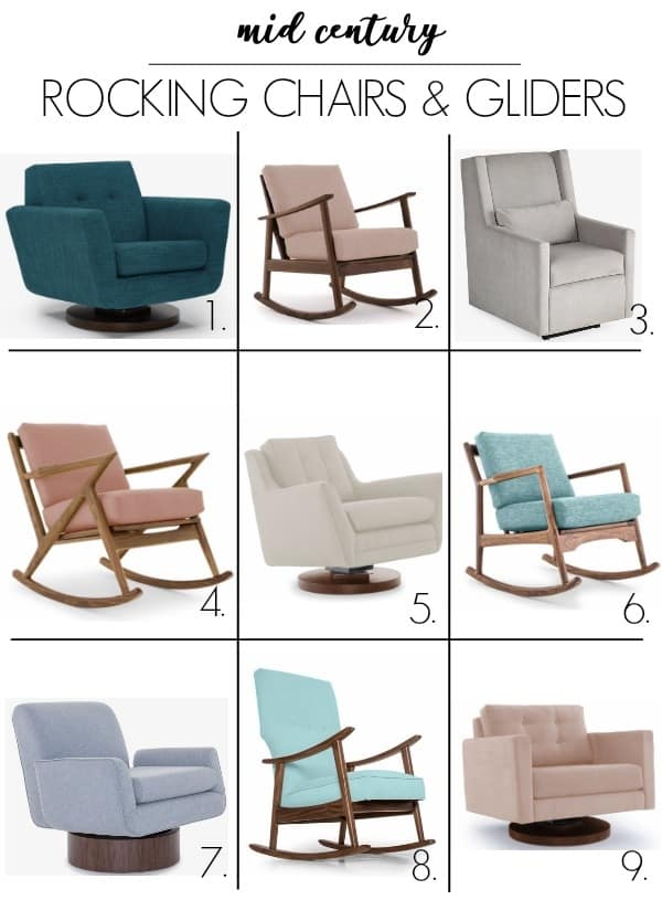 detailed look 8de3c 47b42 MID CENTURY ROCKING CHAIRS AND GLIDERS - at home with Ashley