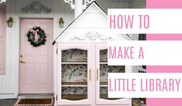 How To Make A Free Little Library At Home With Ashley