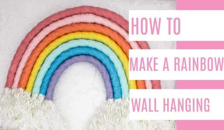 How To Make A Rainbow Wall Hanging At Home With Ashley