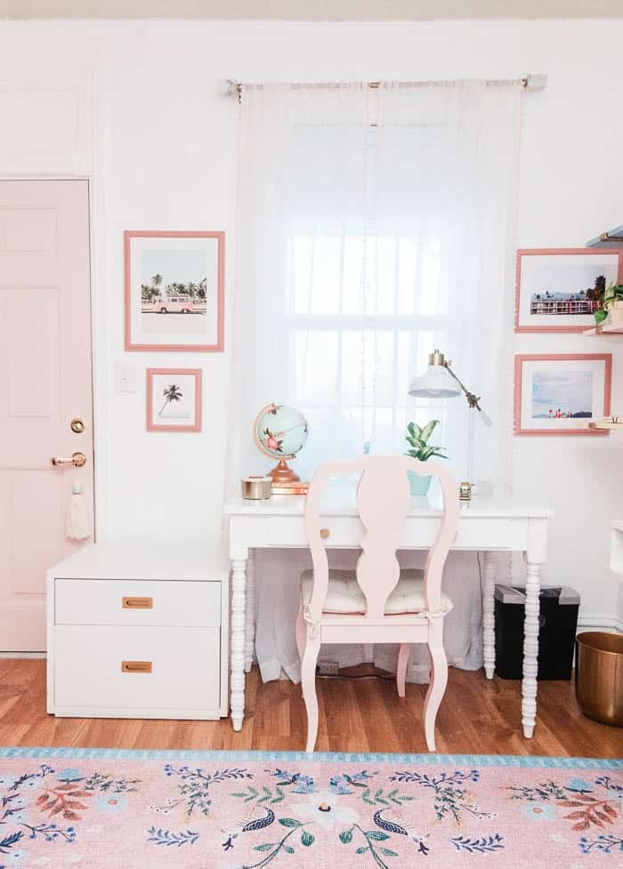 Brilliant The Prettiest Pink Office Chairs At Home With Ashley Inzonedesignstudio Interior Chair Design Inzonedesignstudiocom