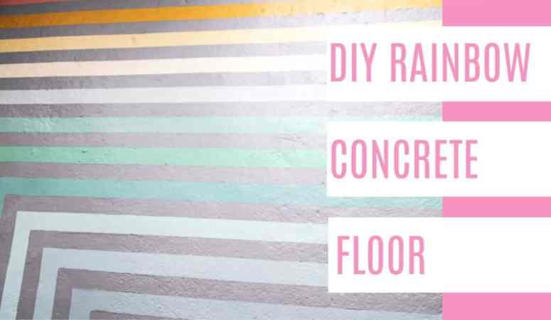 One Room Challenge- DIY Rainbow Floor