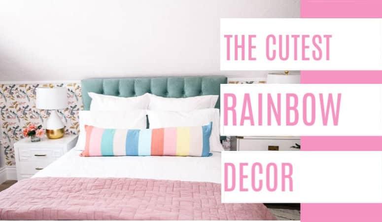 The Cutest Rainbow Decor