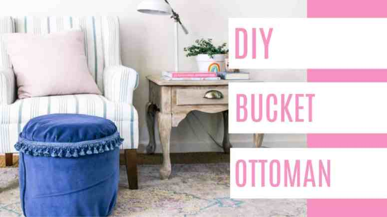 Wondrous Diy Bucket Ottoman At Home With Ashley Inzonedesignstudio Interior Chair Design Inzonedesignstudiocom