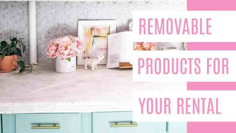 Removable Products for Your Rental. If you're looking for ideas to spruce up your space & still get your deposit back, I've got you covered. I've gathered the best removable DIY products for your rental. You'll find removable wallpaper that you can put on an accent wall or anywhere you want. Then peel and stick tile backsplashes & floor tile for your kitchen. Finally there are appliance wraps you'll love. Like #7 with jungle plants! #renterfriendlyproducts #wallpaperforrenters #removablewallpaper #peelandstick