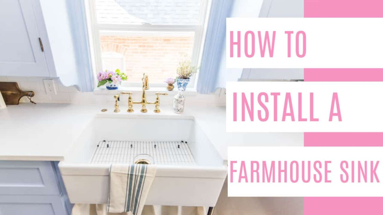 how to install a farmhouse sink at