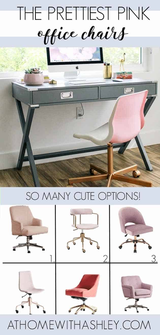 Marvelous The Prettiest Pink Office Chairs At Home With Ashley Pabps2019 Chair Design Images Pabps2019Com