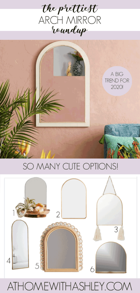 Currently I'm on the hunt for a pretty arch mirror to add to my decor. I gathered some of my favorites in this arch mirror roundup. There are brass, wooden and other options as well. What I love about this look is that it can be a great piece for an entryway or for over the fireplace in the living room. #archmirror #archmirrordecor