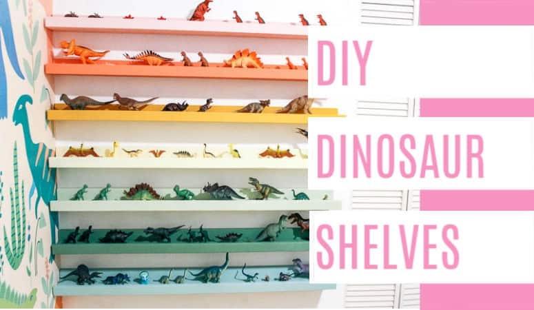 DIY Dinosaur Shelf