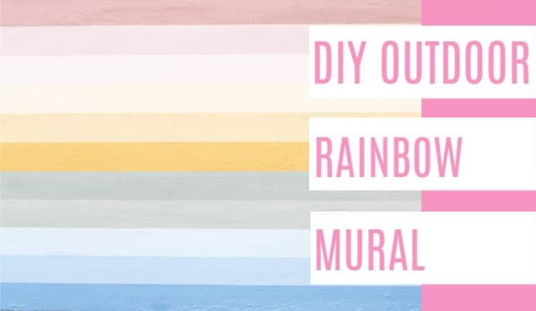 Outdoor Rainbow Mural