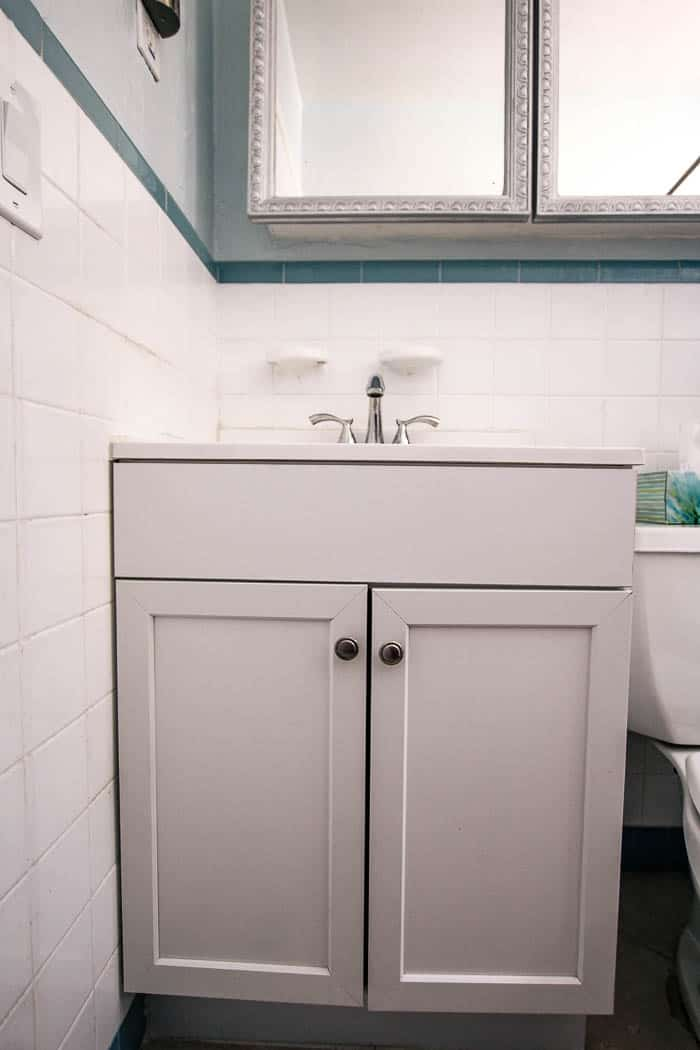 Fluted Bathroom Cabinet Refacing Diy At Home With Ashley