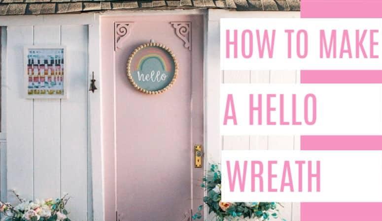 Front Door Decor- Hello Wreath