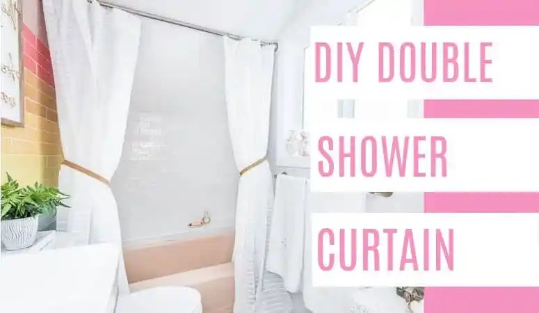 diy double shower curtain tutorial at