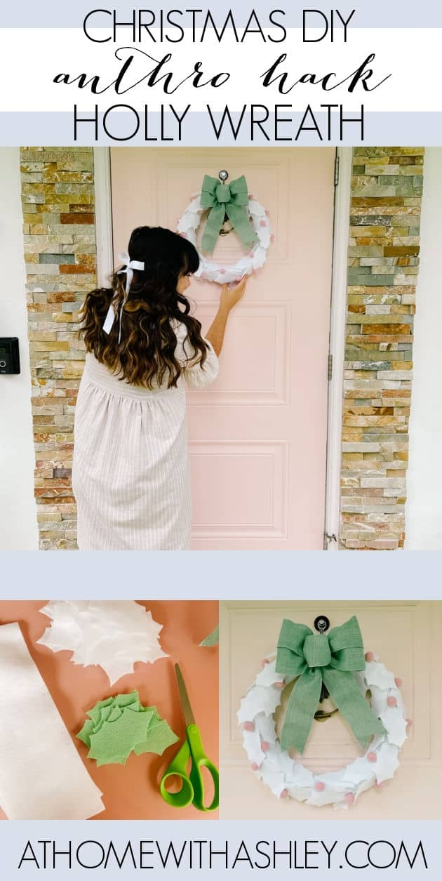 DIY Holly Wreath- Why Cricut is a Great Holiday Gift. Christmas wreath for the front door. Ideas to make easy wreaths for a simple craft. A step by step tutorial for this holly berry bow winter decor
