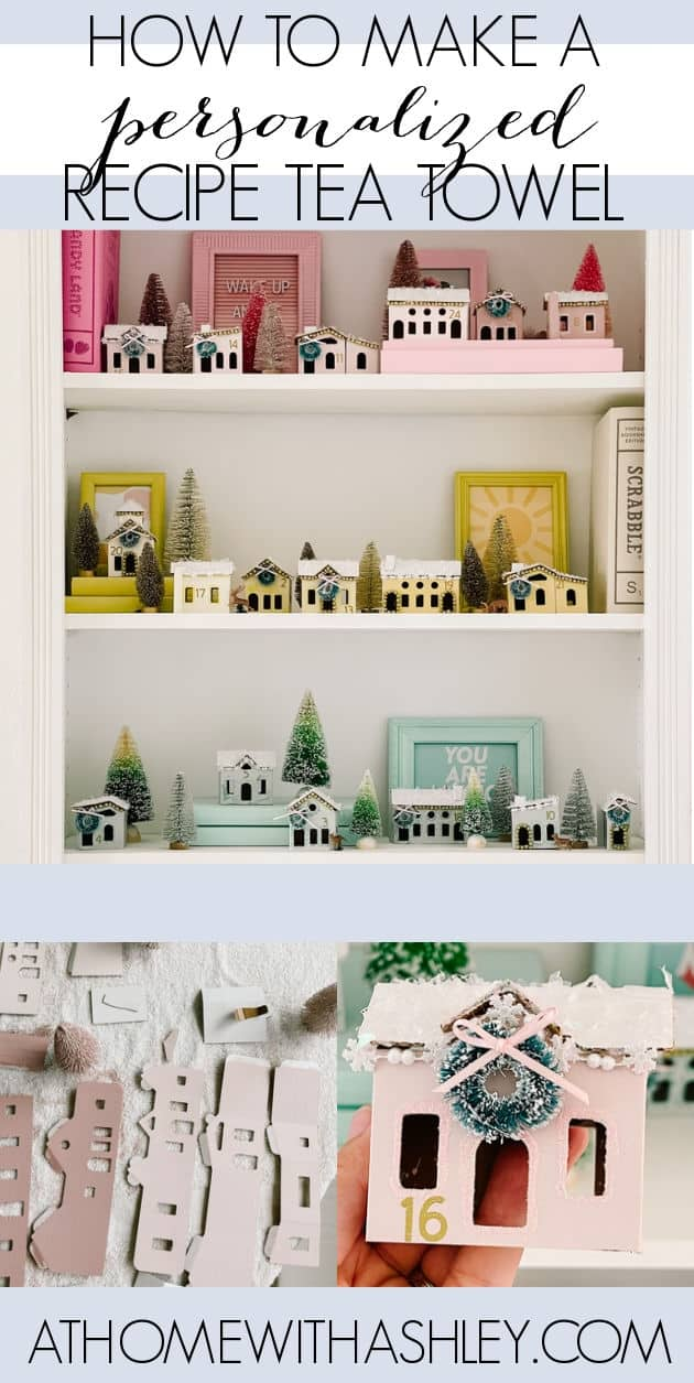 DIY village advent calendar in rainbow colors. Ideas for kids Christmas Advent calendar to count down and add magic to the season that's also cute decor. I have an easy tutorial with step by step instructions for how to make a little house calendar