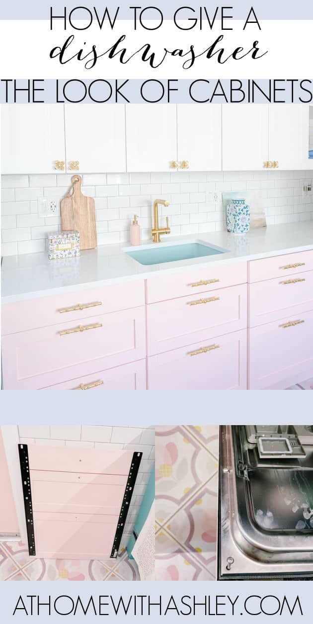 panel ready dishwasher. What is it? A way to get the appliance to blend in with cabintry. How to install for a custom look. You can also do the same with a refridgerator so they match kitchen cabinets.