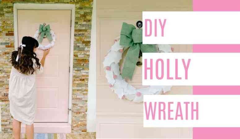 DIY Holly Wreath- Why Cricut is a Great Holiday Gift