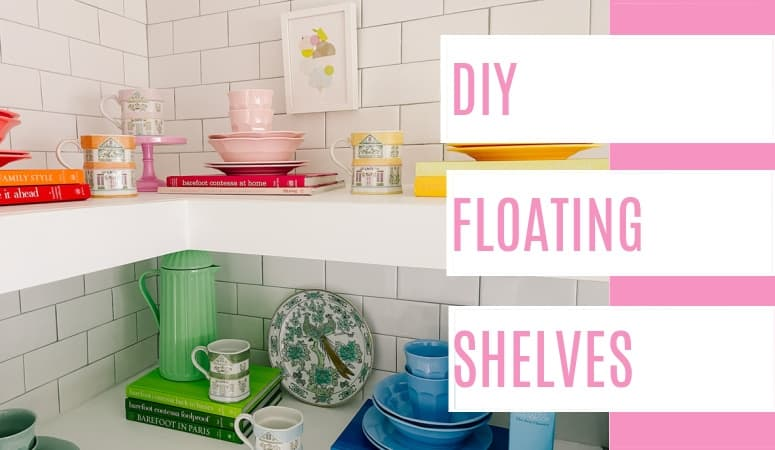 DIY Corner Floating Shelves