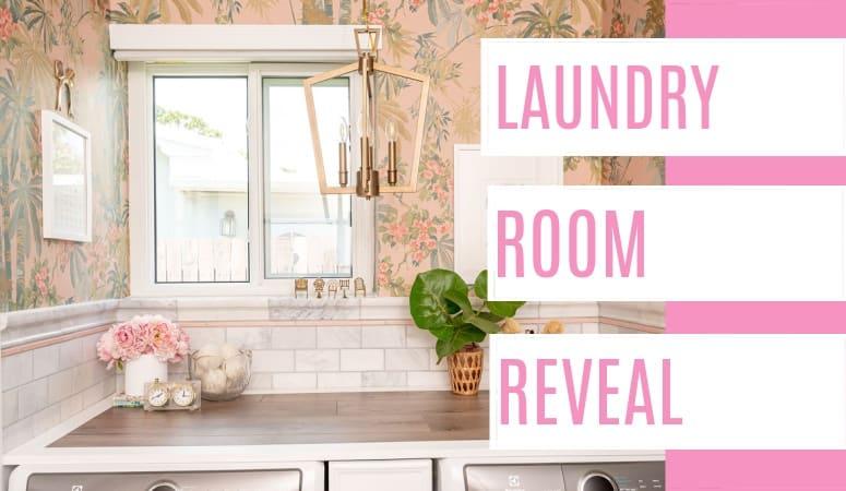 Garage Laundry Room Reveal