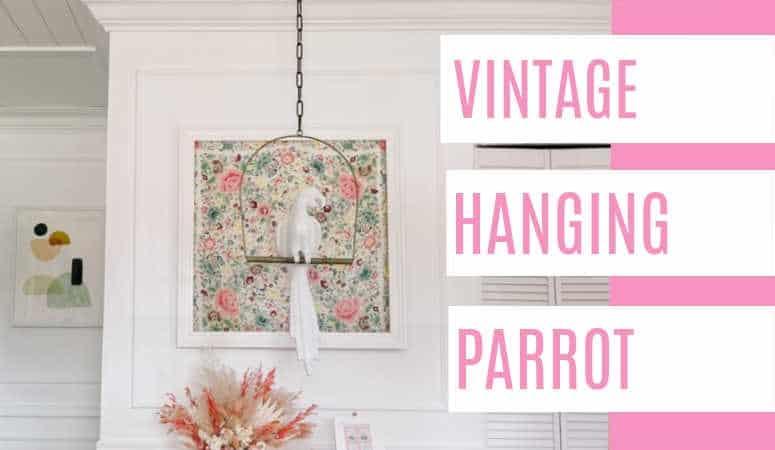 Vintage Hanging Parrot