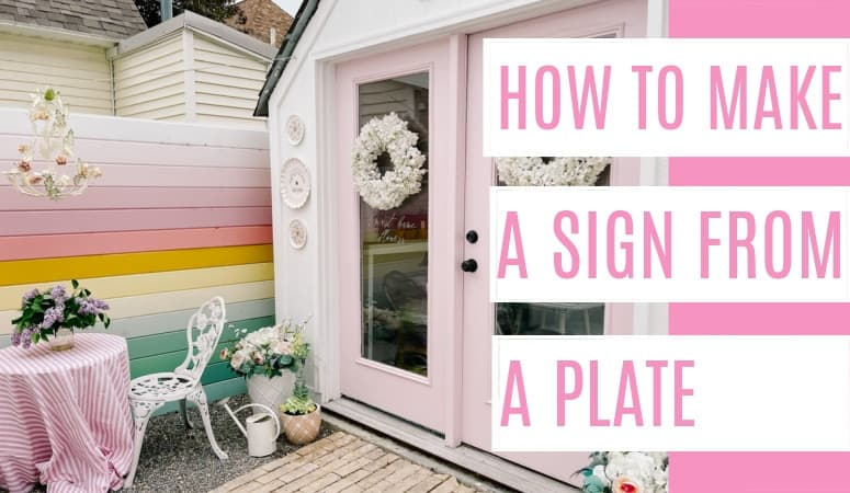 How to Make a Sign from a Plate