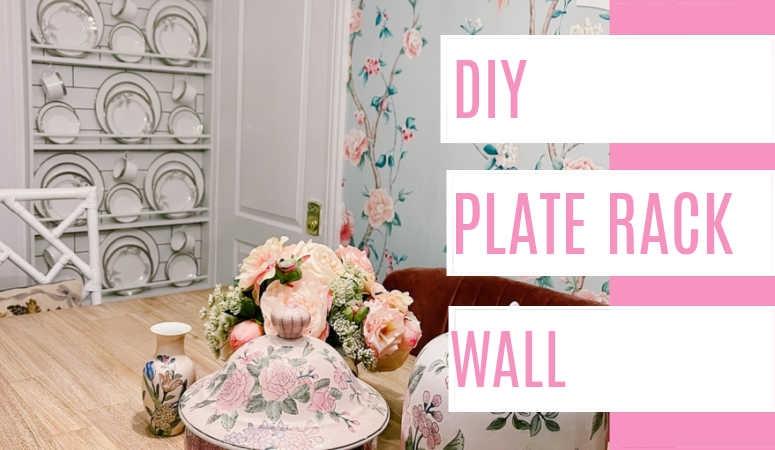 DIY Plate Rack Wall