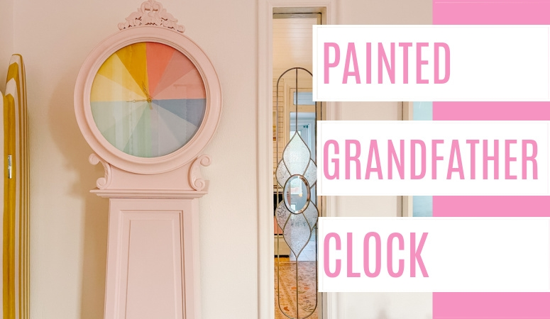 Painted Grandfather Clock