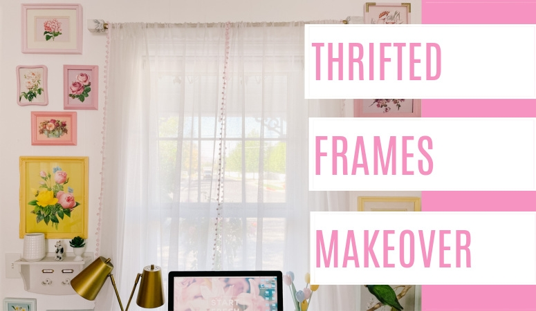 Used Picture Frames Makeover