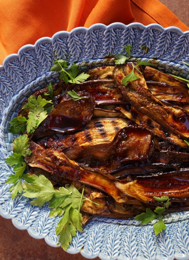 Grilled Eggplant with Honey