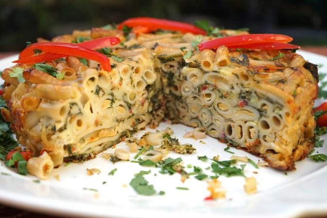 Pasta, Chard and Fontina Torte.